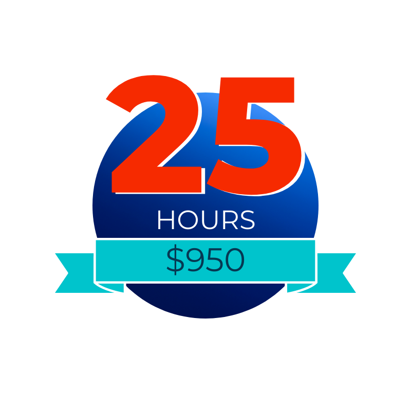 25 Hour Retainer Package
